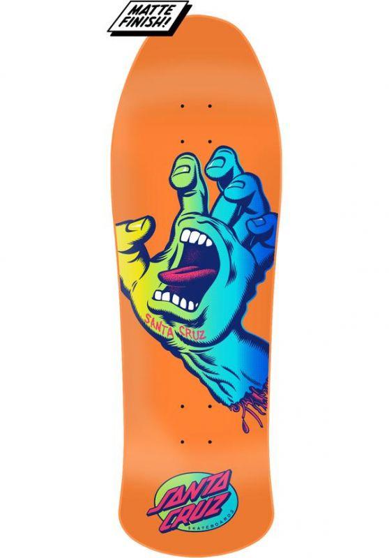 "SANTA CRUZ Screaming Hand Preissue 10"" Orange - Skateboard Deck"