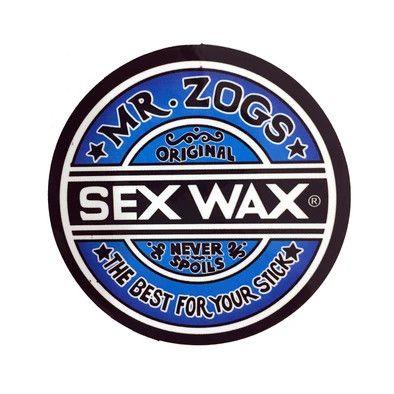 """SEX WAX Sticker 7"""" Faded Blue"""