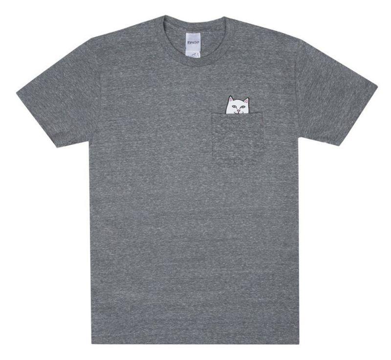 RIPNDIP Lord Nermal Pocket Tee - Heather Grey - XL - T-Shirt