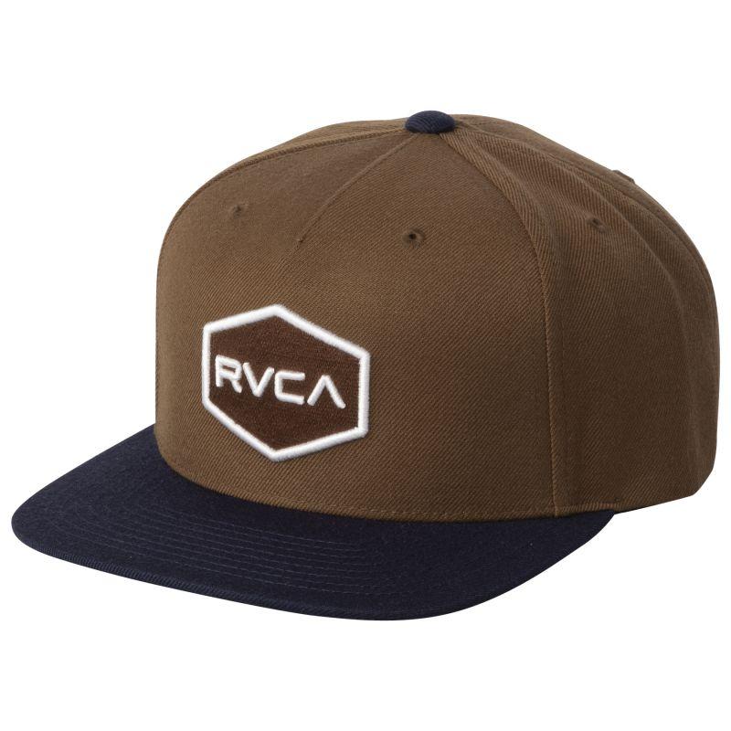 RVCA Commonwealth Snapback Tobacco
