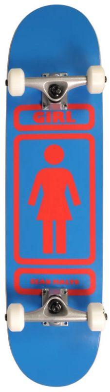 """GIRL Malto 93 Til Blue/Red WR#40 7.75"""" - Skateboard Komplett"""