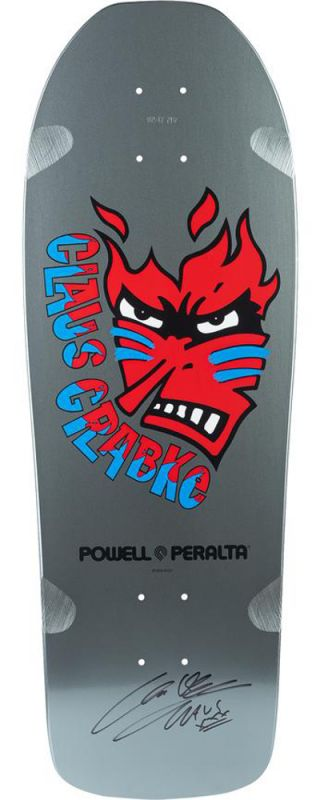 POWELL PERALTA Claus Grabke Fame Face Limited Silver Signed - Reissue Skateboard Deck