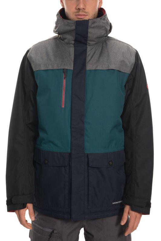 686 Men's Anthem Insulated Jacket Grey Melange Colorblock - M - Snowboard Jacke