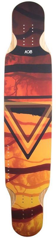 AOB Walking Leaf Longboard Deck