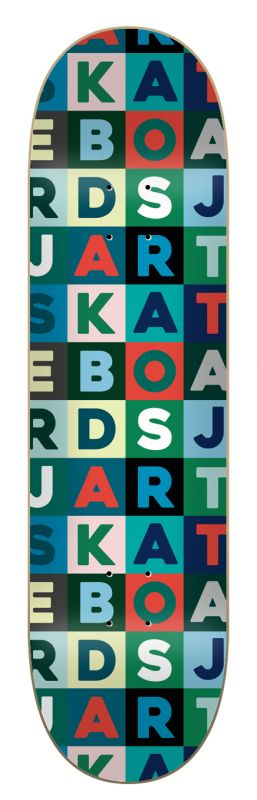 "JART Scrabble 8.25""x31.7"" HC - Skateboard Deck"