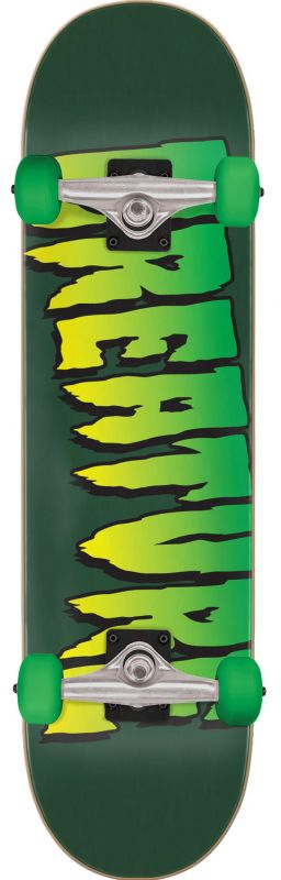 "CREATURE Logo 8"" Full Green - Skateboard Komplett"