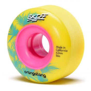 ORANGATANG Skiff 62mm - Longboard Wheels - 86a Yellow