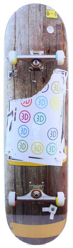 "3D Telephone Pole 8,5"" - Skateboard Deck"
