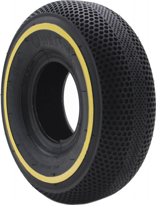 WILDCAT P04 65 PSI Mini BMX Reifen (Black Yellow Line) inkl. Schlauch