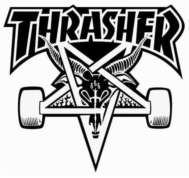 THRASHER Skategoat Board White | Sticker Aufkleber