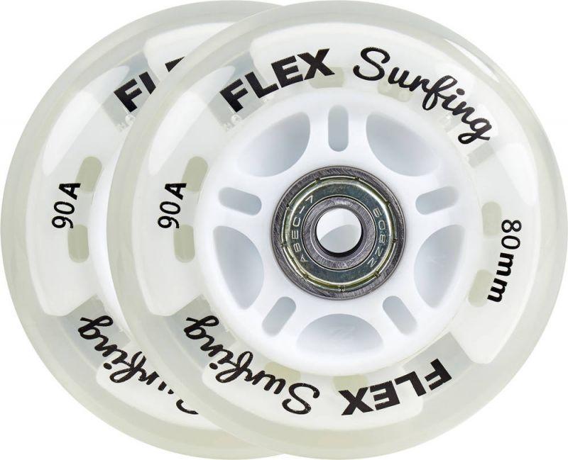 FLEXSURFING Light-Up 80mm Ersatzrollen 2er-Pack incl. Kugellager