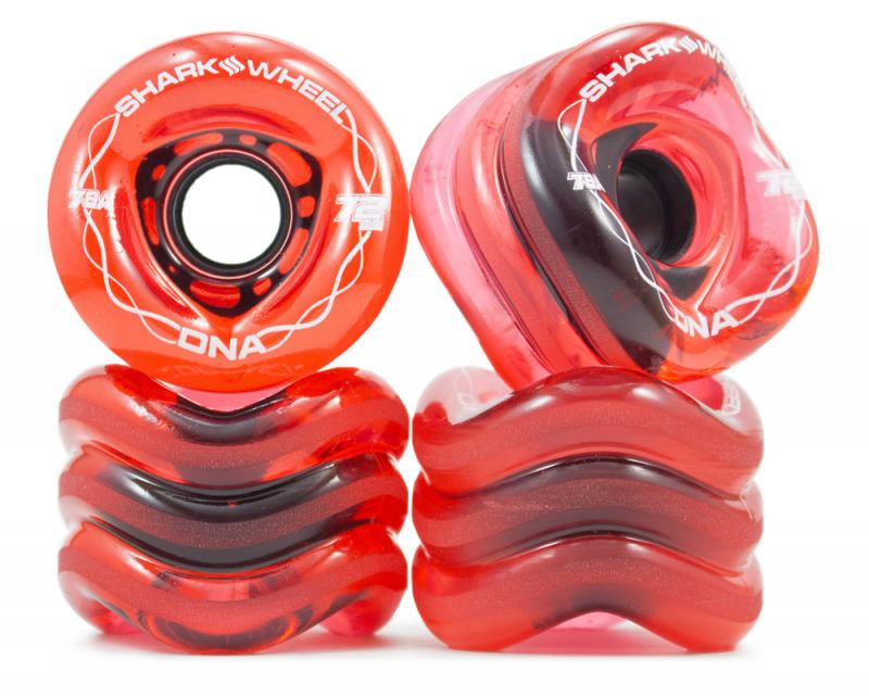 SHARK WHEELS DNA 72mm 78a Transparent Red