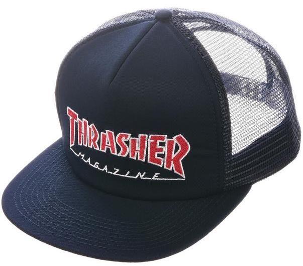 THRASHER Embroidered Outlined Mesh Cap - Trucker Cap