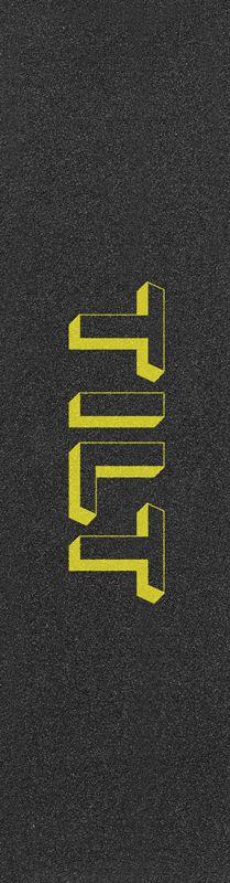 """TILT 3D Logo 6.5"""" Yellow - Stunt Scooter Griptape"""