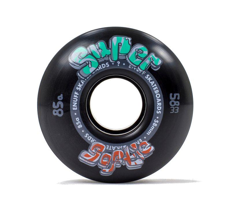 ENUFF Super Softie Wheels 58mm 85a Black - Skateboardrollen