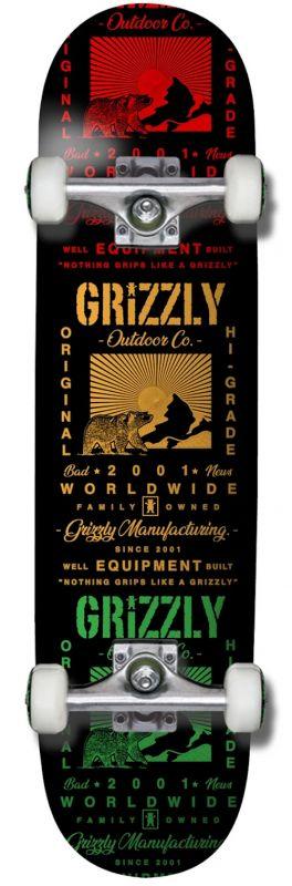 "GRIZZLY Tagline 8"" - Skateboard Komplett"