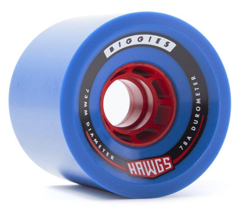 HAWGS Biggies 73mm 78A Blue - Longboard Rollen