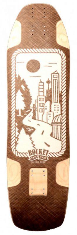 ROCKET LONGBOARDS Classic Scout - Longboard Deck