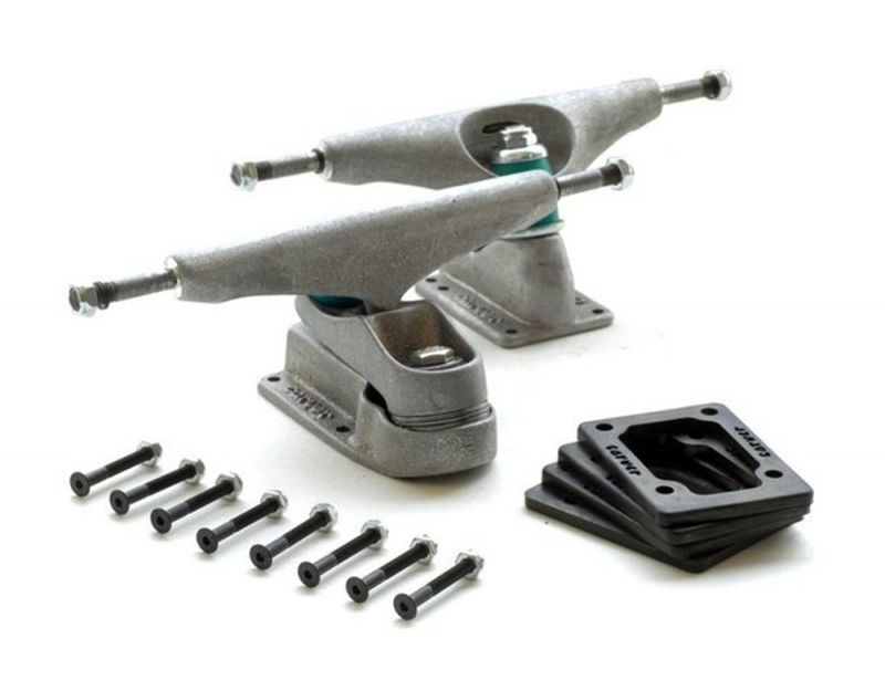 """CARVER C7 / C2.4 Surfskate Truck Set 6,5"""" Raw Silver"""