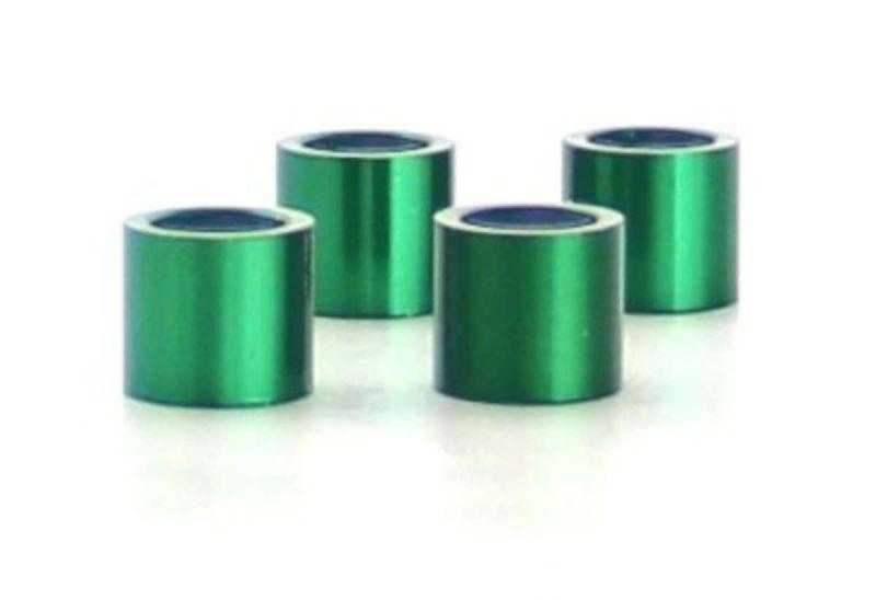 Alu Precision Spacer (10x8mm) Green