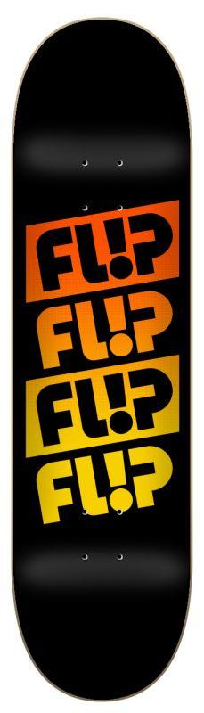 "FLIP Quattro Faded Blacker 8.25"" - Skateboard Deck"